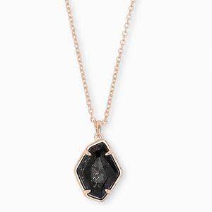 Kendra Scott Ellington Rose Gold Granite Necklace